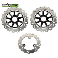 BIKINGBOY Front Rear Brake Discs Rotors Disks for Honda CBR 400 RR Tri Arm 1988 1989 CBR400RR NC23 88 89 Motorcycle Replacement
