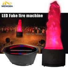 1.5meter red Fake fire flame lighting 36 LED fire machine Stage Special Effect LED lamp silk DJ DISCO wedding flame machine(China)
