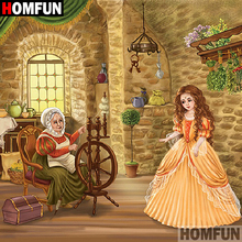 HOMFUN 5D DIY Diamond Painting Full Square/Round Drill Girl grandma 3D Embroidery Cross Stitch gift Home Decor A08540