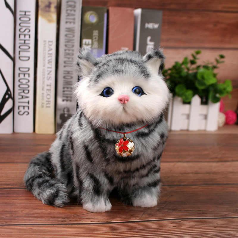คริสต์มาสของเล่นสำหรับของขวัญเด็กอิเล็กทรอนิกส์สัตว์เลี้ยงไฟฟ้า cat Brinquedos หุ่นยนต์เชิงโต้ตอบแมวสามารถ Meow meow ของเล่นตุ๊กตา