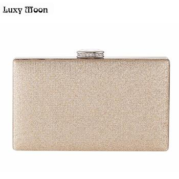 7b60541ac04a Luxy Moon вечерние сумки модные цвета: золотистый, Серебристый День клатч  Сумочка с ...