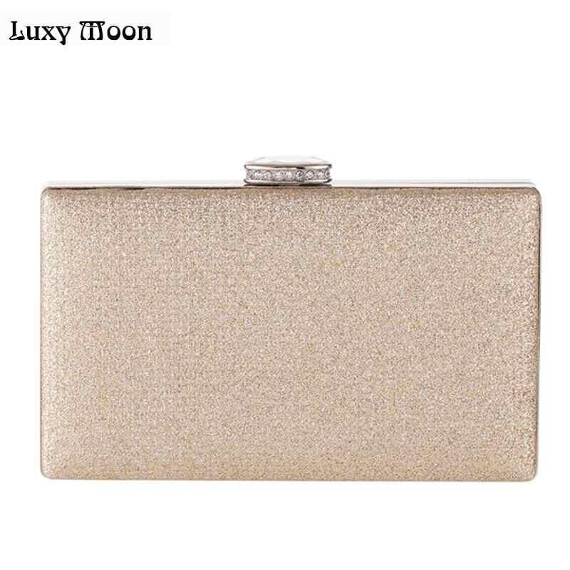 f771bdc9538e Luxy Moon вечерние сумки модные цвета: золотистый, Серебристый День клатч  Сумочка с блестками мини