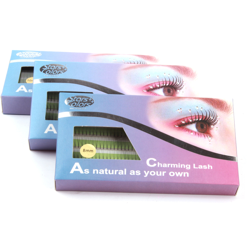 Naturlige 2d False Øjenvipper High Quality Individual Imiterer Mink Falske Eye Lashes 0.15mm Silke øjenvipper forlængelse makeup
