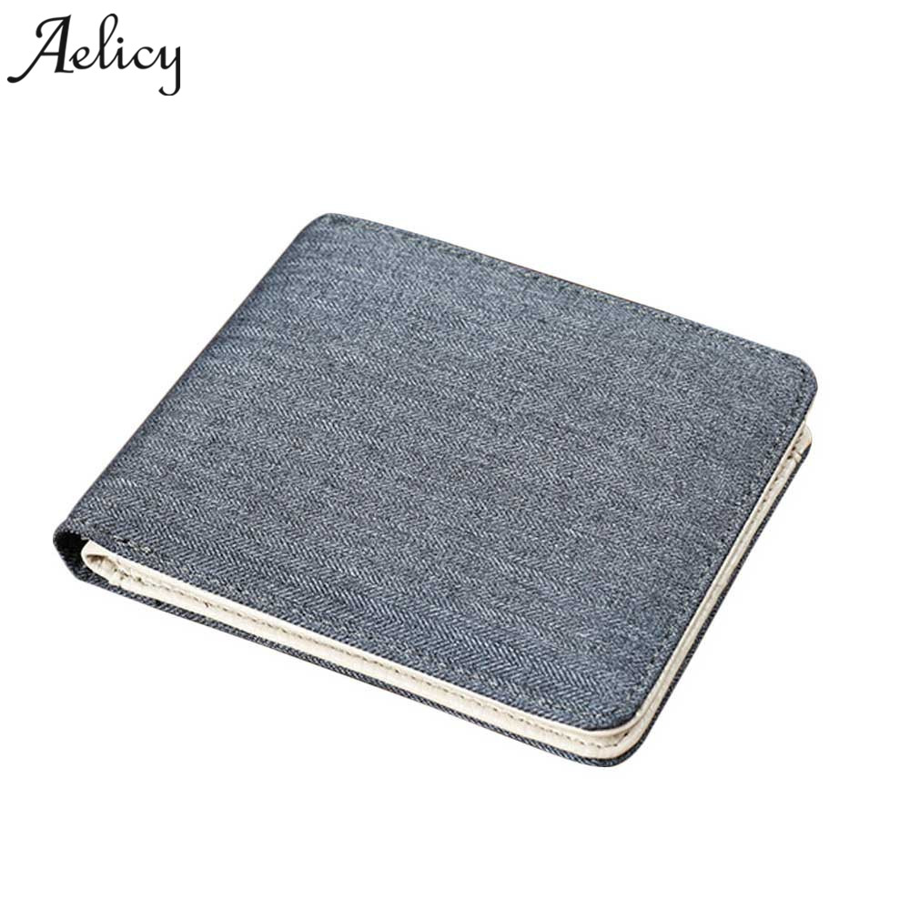 Aelicy Vintage Wallets Canvas Wallet Men Slim Thin Money Dollar Card Holder Purses for Men wallets Famous Brand Cartera Hombre камера видеонаблюдения orient ip 940 oh10b ip 940 oh10b