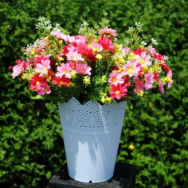 High Grade Floral Hollow Design Flower Vase Solid Color Decorative