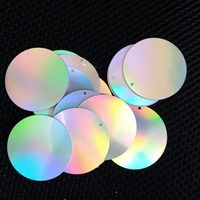 Wholesale 40mm flat round sequins for sewing and craft supplies,2kg/color/bag