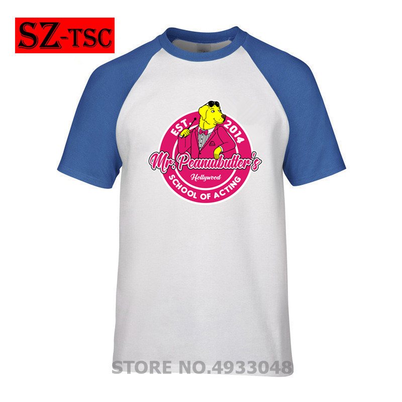 2019 new men short sleeve t shirt school of acting Mr. Peanutbutter's hollywood bojack horseman Printed t-shirt male tops tees image