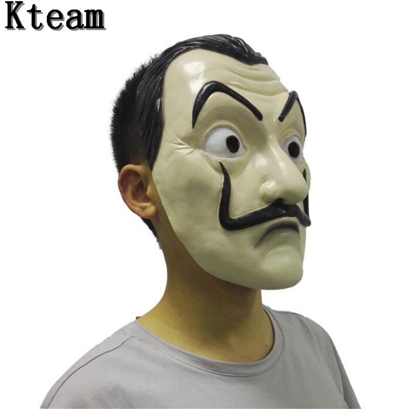 2018 Hot Famous Movie Theme quot La Casa De Papel quot Face Mask quot Salvador Dali quot Cosplay Movie Mask Realistic Party Mask Funny Mask Toy in Party Masks from Home amp Garden