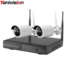 Wireless CCTV System WiFi NVR Kit 2ch 960P 1.3MP IP Camera waterproof outdoor P2P Home Security System Surveillance Kits