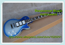 Wholesale & Retail Chinese Musical Instruments Vintage Blue Dusty Top Three Pickups LP Custom Electric Guitars Lefty Available
