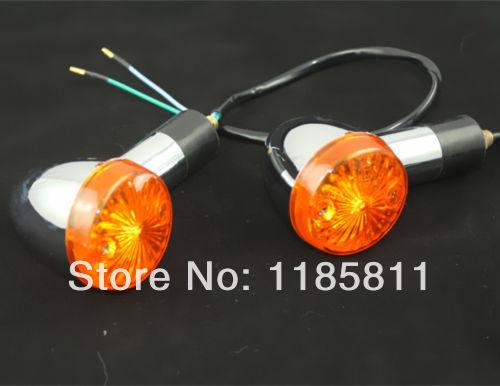 1 Pair Amber Turn Signals Bullet Lights For Motorcycle Street Bike Sport Bike Chopper Custom Honda Suzuki Kawasaki Yamaha ATV