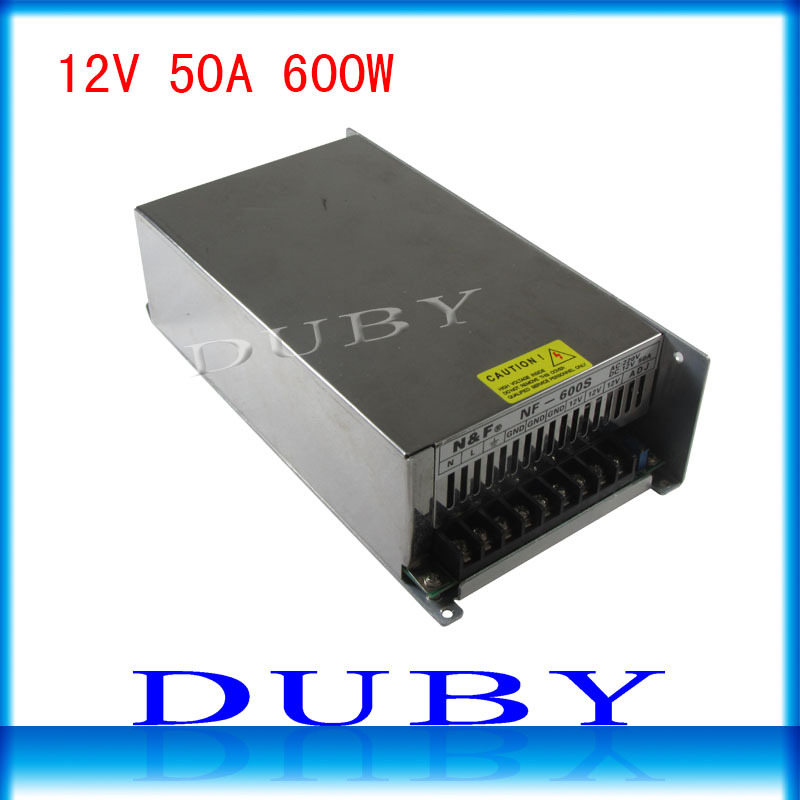 12V 50A 600W Switching power supply Driver For LED Light Strip Display AC200-240V Factory Supplier