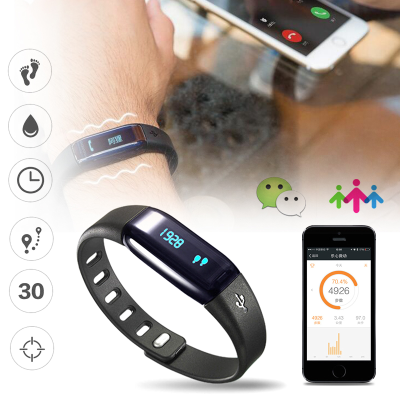 1pc smart watch clocks Heart Monitor Rate Sports Wrist Band Sleep fitness Tracker Bluetooth 4.0 Bracelet for iOS Android H4 gps tracker watch heart rate smart bracelet watch heart rate monitor personal android and ios tracker multi mode locating