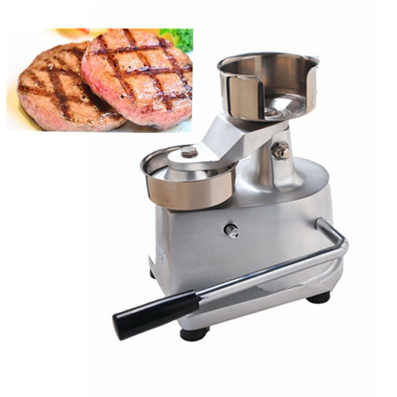 Manual beef hamburger burger meat patty press making machine manual stainless steel hamburger patty