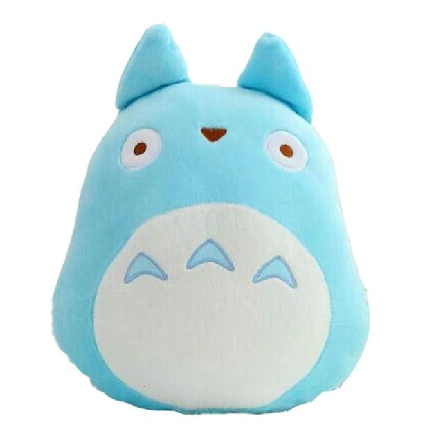Japan Anime TOTORO Plush Toy Soft Stuffed Pillow Cushion Cartoon White Totoro Doll Black
