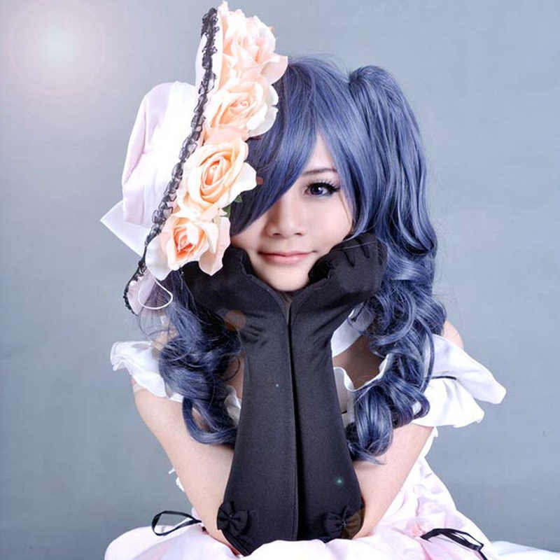 Cosplay Gray Wig Long Curly Wavy Costume Black Butler Kuroshitsuji Ciel Phantomhive Synthetic Hair Cos Wigs Peruca Pelucas