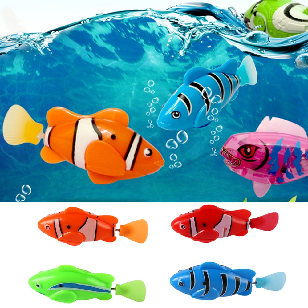 Fish tank toys - Funny Swim Electronic Plastic Robotic Fish Activated Battery Powered Robo Toy Fish Tank Aquarium Ornament Decoration