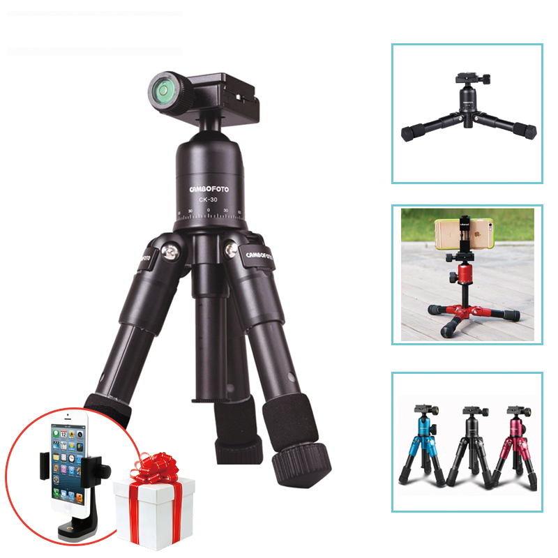 Ulanzi Cambofoto Portable Folding Macro Mini Tripod Professional Photography Tripod with Ball Head For Canon Nikon