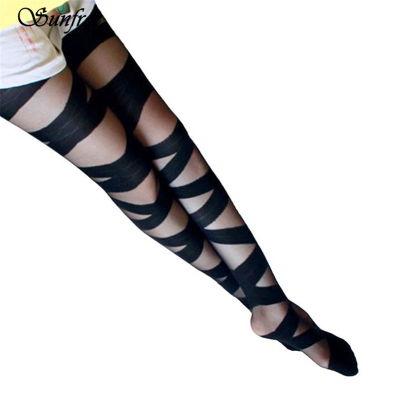 Sunfree 2017 New Hot Sale Womens Bandage Opaque Over Knee Thigh High Elastic Socks Brand New And High Quality Dec 28