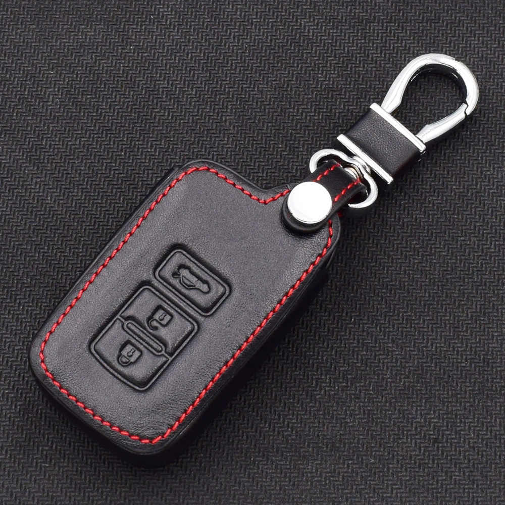 ATOBABI Genuine Leather Smart Key Fob Cover Protector Jacket Remote Control  Case for Toyota Avalon Camry Corolla RAV4 Highlander