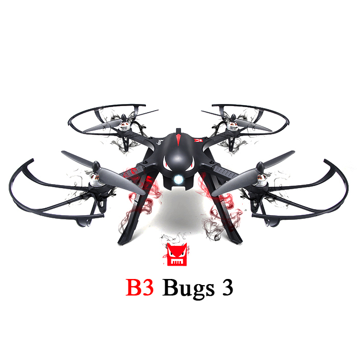 MJX B3 Bugs 3 Радиоуправляемый Дрон вертолет Квадрокоптер Бесщеточный 2,4G мини Дрон с креплением для камеры 4k Gyro Drone Профессиональный вертолет - 2