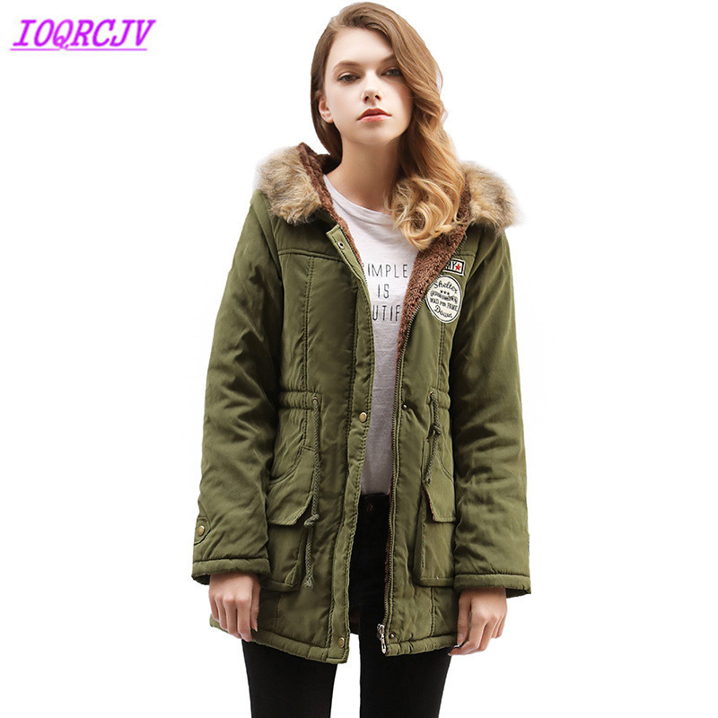 c122cfdb38d Winter Parkas For Womens 2018 Cotton-padded Jacket Fur Collar Hoodies Plus  Size Top Thick Lamb Cashmere Female Winter Coats H550