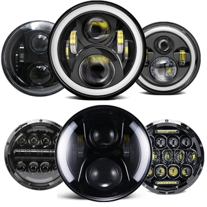 """Image 2 - 7"""" Headlight For Jeep Wrangler TJ JK 7 Inch Round LED Projector Headlights For Classic Mini Austin Rover For Hummer H1 H2"""