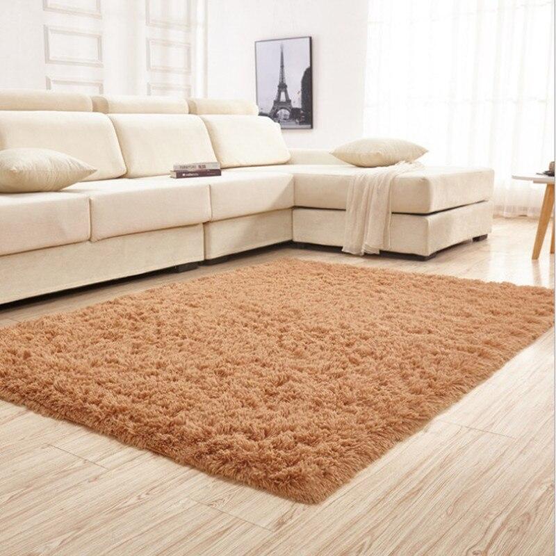 1 pièces mode 4.5 cm épaissir tapis Super doux couleur unie tapis/tapis de sol/salon tapis/zone tapis