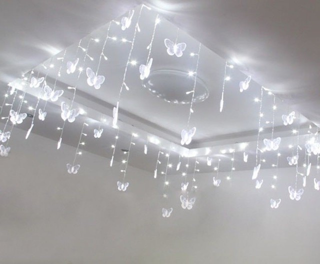 5mx1m wedding butterfly led curtain string light ceiling holiday 5mx1m wedding butterfly led curtain string light ceiling holiday fairy lights party venue store decoration christmas aloadofball Image collections