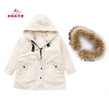 High Quality Fashion Girls Winter Jackets Children Hooded Thick Cotton Warmer font b Kids b font