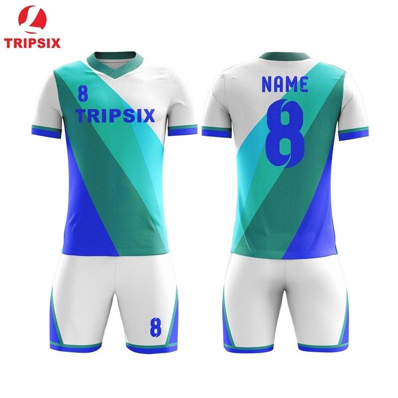 2019 Sublimé Personnaliser maillot de Football blanc de Football Équipe Uniforme Oem Logos Nom Nombre Camisas Futebol Formation Costumes