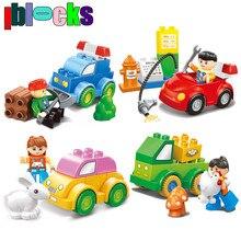 18M+ Boys & Girls Figures City Cars Fleet Minifigures Big Brick Compatible With DUPLO Building Blocks Educational Toys For Kids