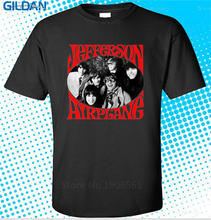 2017 Cotton T Shirts Clothing  Short Graphic Create Jefferson Airplane Rock Legend O-Neck Tees For Men