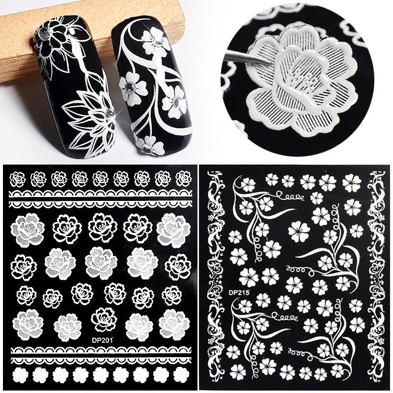 1pcs 3D Lace Flower Nail Art  Hot Stamping Nail Art Stickers Nail Art Design Nail Art Sticker 32832