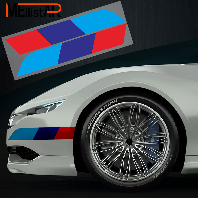 Car trunk Stickers and Decals side skirt Stickers For bmw e90 e46 f30 f07 f34 x4 x5 f15 f16 x6 e71 M3 M5 Car styling accessories