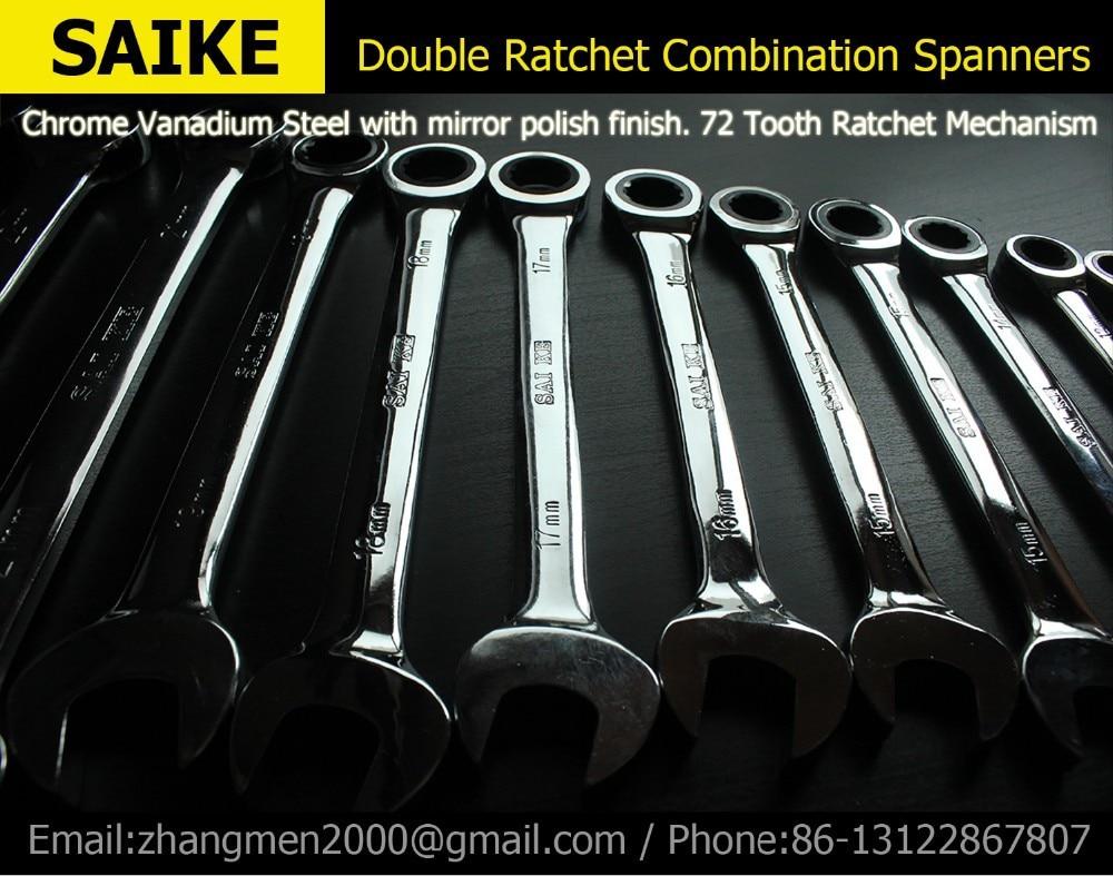 Ratchet kombinált metrikus csavarkulcskészlet kéziszerszámok Nyomaték fogaskerék csavarkulcskulcs Kulccsal Kulcskészlet