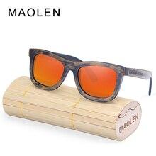 MAOLEN Wood Sunglasses Women Bamboo frame Sun Glasses Polarized Lenses Eyewear UV400 Protective Shades New Design Eyeglasses