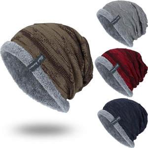 ee2736e8063 feitong Boys Winter Men Warm Fur cap Wool Hat Knitting