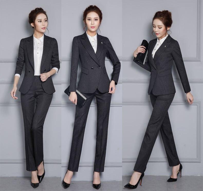 dark Giacche Abiti 4xl Femminile Pantaloni Lavorano Professional E Usura Plus Signore Di Black Formale Delle Work Size Ufficio Blue Con Uniformi Set Indossare wOkn0P8