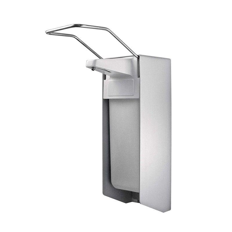 Disinfectant dispenser 1000 ml short lever Plastic pump ALU dispenser 29.5 x 16.5 x 10.5cm for hospital areas and medical place