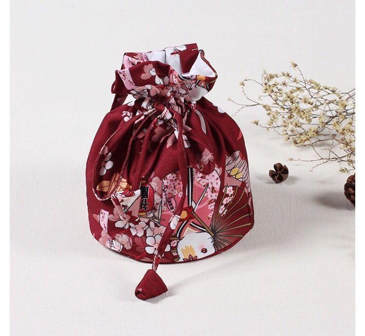 Free Shipping Women Japanese Kimono Yukata Handbag Floral