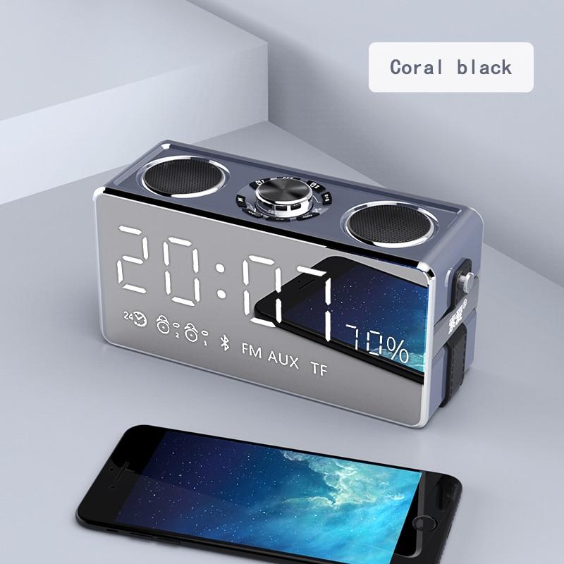 Dual Alarm Clock Portable Bluetooth Speaker Portable Wireless Loudspeaker Sound System 25W Stereo Music Surround Outdoor Speaker jy 3 outdoor wireless bluetooth speaker loudspeaker music speaker