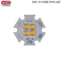 12 В Cree XPG2 XP-G2 4 фишки 4-18 Вт 20 Вт светодио дный излучатель вместо мкр XHP50 холодный белый теплый белый светодио дный с 20 мм Cooper PCB