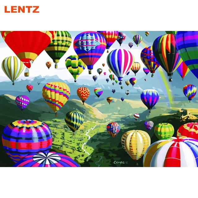Heißluftballon Tour Bunte Ölgemälde Durch Zahlen Bild room decor ...