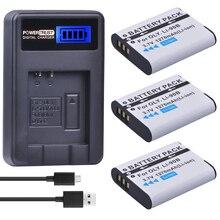 3 Pack LI-90B LI 90B LI90B LI-92B Camera Battery + LCD USB Charger for Olympus Tough TG-1 iHS TG-2 iHS TG-3 TG-4 SH50 iHS SH60