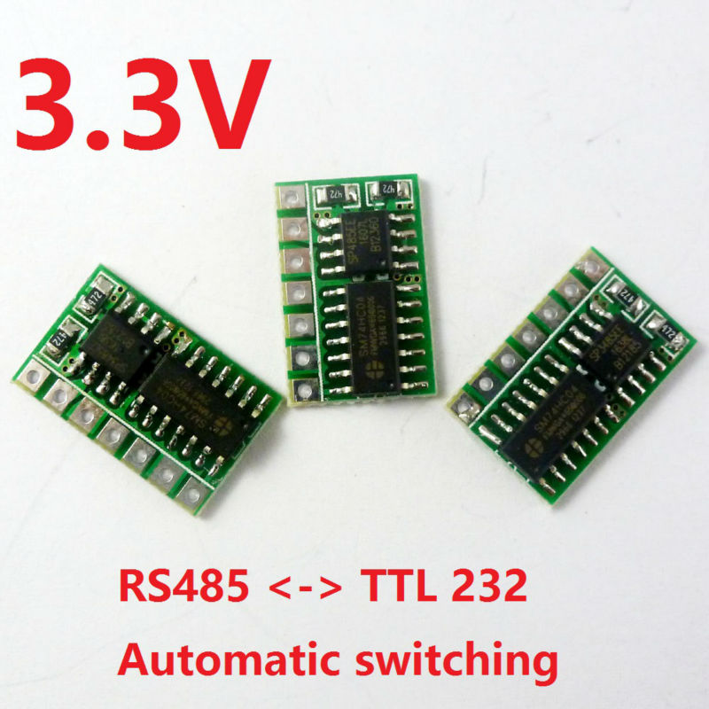 3pcs 3.3V Auto RS485 to LvTTL RS232 Transceiver Converter SP3485 Module for esp8266 raspberry pi breadboard nodemcu banana pi αυτοκολλητα τοιχου καθρεπτησ