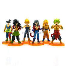 Classic Pop Anime Cartoon Dragon Ball Z GT Action Figures  Goku Action Figure 6pcs/set Toys For Children Free Shipping