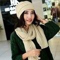 Nueva llegada de la marca twinset sombrero bufanda térmica femenina hilo de punto boina invierno a prueba de frío a prueba de viento caliente de las mujeres lana twinset