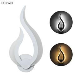 Nowoczesna lampa sufitowa led płomień lampka nocna do łazienki sypialnia akrylowa kinkiet biały kryty dekoracyjny element oświetleniowy AC100-265V