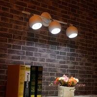 Stile europeo lampada da soffitto TV sfondo creativo negozio di abbigliamento retrò tre fari luci della pista del led